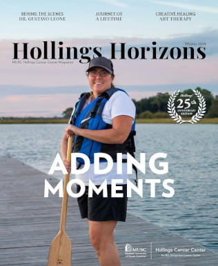 Cover of the Hollings Horizons winter 2019 issue
