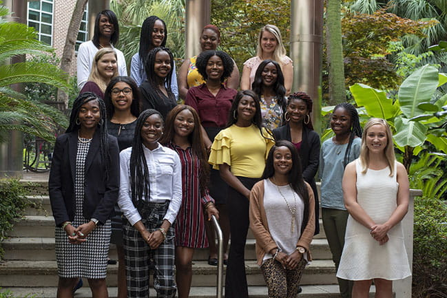 group photo of 2019 South Carolina Cancer Health Equity Consortium student fellows