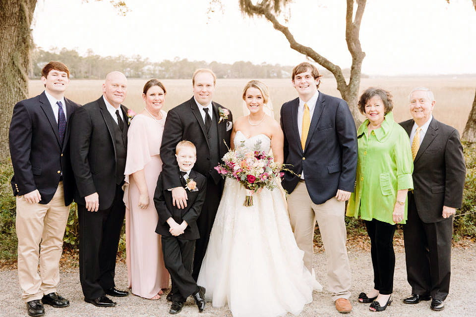 Immunotherapy at Hollings Cancer Center helped make it possible for Kerry Hardy (second from left) to be the best man at his son's wedding. Photo courtesy of Kerry Hardy